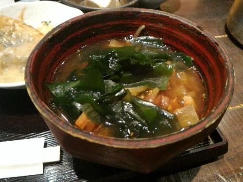 にんじんやの味噌汁