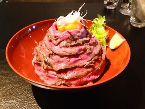 国産ローストビーフ丼